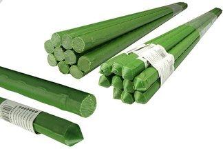 Metalowa tyczka ogrodowa, powlekana PCV do podpierania roślin 1,6cm x 210cm - 50 szt