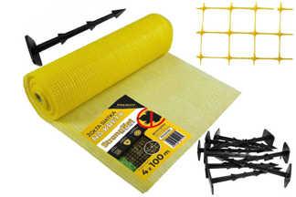 Najmocniejsza siatka przeciw kretom StrongNet - włoska (siatka na krety), oczko 15x19, kolor żółty 4x200m + kołki mocujące GRATIS