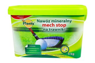 Nawóz mineralny mech stop na trawniki w wiaderku  Planta 5 kg