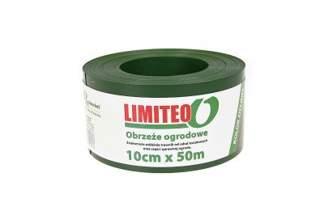 Obrzeże trawnikowe ogrodowe zielone, proste 10cm x 50m LIMITEO