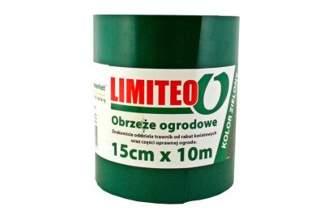 Obrzeże trawnikowe ogrodowe zielone, proste 15cm x 10m LIMITEO