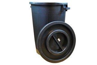 Pojemnik, kosz ogrodowy na śmieci +pokrywa 120 litrów