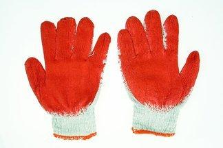 Rękawice robocze WAMPIRKI L czerwone