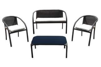 Zestaw mebli z rattanowych Dominikana 1 sofa + 2 fotele + stolik JLZ784