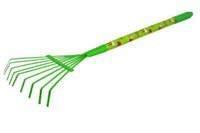 Miotłograbie dla dzieci GR0146D z drewnianą rączką – kolor zielony