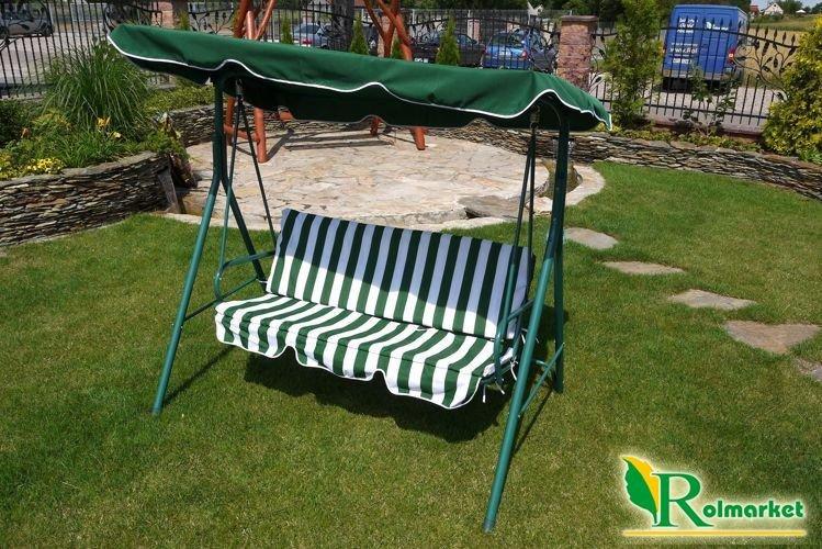 Meble Ogrodowe Z Siatki Metalowej : białozielone paski JKSC01  Meble ogrodowe  Huśtawki ogrodowe