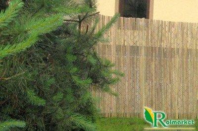 Mata bambusowa, osłonowa z listew bambusowych 1,2x3m