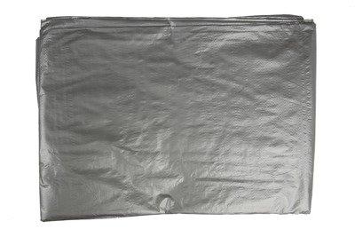 Bardzo gruba plandeka okryciowa srebrna 10x15m (120g)