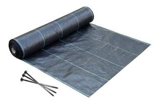 Agrotkanina czarna Agritella 1,6x100m 70g + szpilki mocujące 19cm 50szt