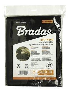 Agrowłóknina czarna 0,8x10m Bradas 50g
