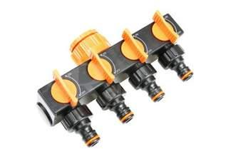 Czwórnik - przyłącze na kran, rozdzielacz z 4 zaworami ECO-PWG3033 Bradas