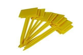 Etykiety rabatowe, tabliczki do roślin NR7, rozmiar 4x6cm z nóżką 12cm, żółte - 10szt