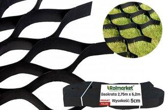 Geokrata komórkowa do stabilizacji dróg, podjazdów, skarp, poboczy 2,75x6,2m - wysokość: 50mm