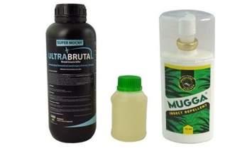 Innowacyjny preparat na komary Ultra Brutal™ 1000 ml + utrwalacz do oprysku 250 ml + Mugga