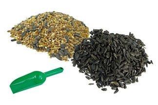 Karma ziarno dla ptaków dzikich na zimę Ptasia Biesiada™ Standard + słonecznik czarny + łopatka 250g - zestaw 30kg