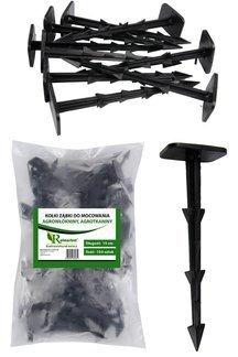Kołki plastikowe do mocowania agrotkaniny, agrowłókniny i geowłókniny 14cm ZĄBKI (100 szt.)