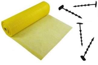 Najmocniejsza siatka przeciw kretom StrongNet - włoska (siatka na krety), oczko 15x19, kolor żółty 4x100m + kołki mocujące GRATIS