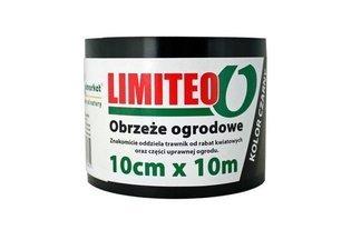 Obrzeże trawnikowe ogrodowe czarne, proste 10cm x 10m LIMITEO - 10 sztuk