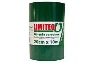 Obrzeże trawnikowe ogrodowe zielone, proste 20cm x 10m LIMITEO - 10 sztuk