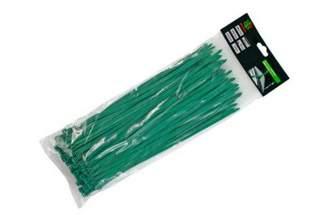 Opaski kablowe zielone 4,8x300mm (100 szt.)