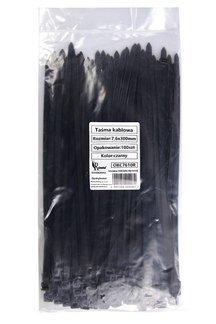 Opaski zaciskowe taśmy kablowe czarne 7,6x300mm (100 szt.)