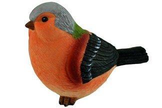 Ozdobny ptak ogrodowy C różowo-szary – figurka, dekoracja ogrodu