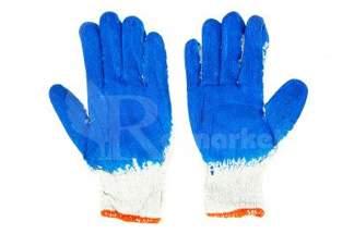 Rękawice robocze WAMPIRKI XL niebieskie 300 par
