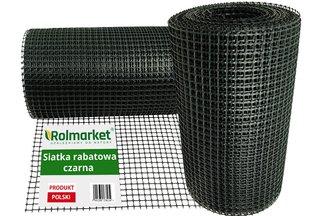 Siatka rabatowa 0,4x50m czarna