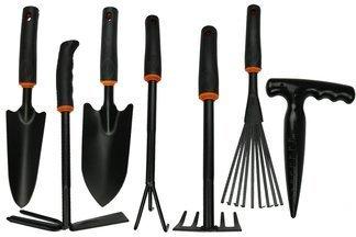 Zestaw 7 poręcznych narzędzi ogrodniczych DE LUXE ZND10R