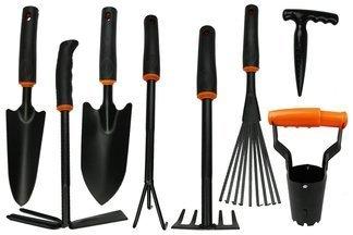 Zestaw 8 poręcznych narzędzi ogrodniczych DE LUXE