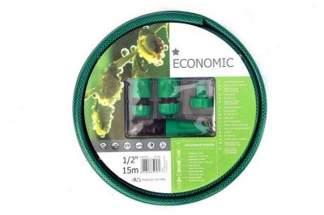 Zestaw wąż ogrodowy Economic 1/2 15m + złączki