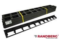 Zestaw obrzeży ogrodowych (trawnikowych) 24 szt. R8 58mm x 1m – kolor czarny + 50 kotew