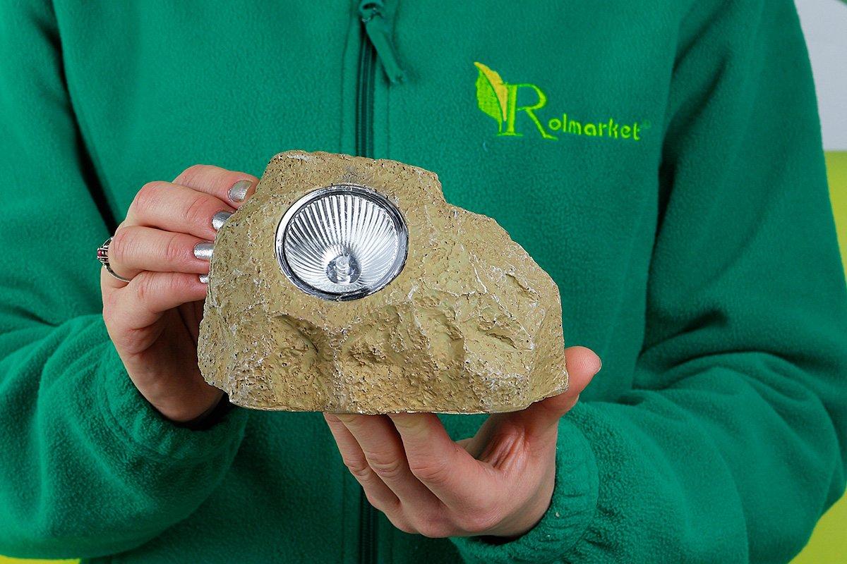 Lampa Solarna Ogrodowa Imitująca Kamień L 405233 Rolmarketpl