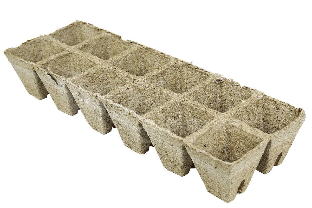 Kwadratowe Doniczki Torfowe Do Rozsad Nasion Warzyw Oraz