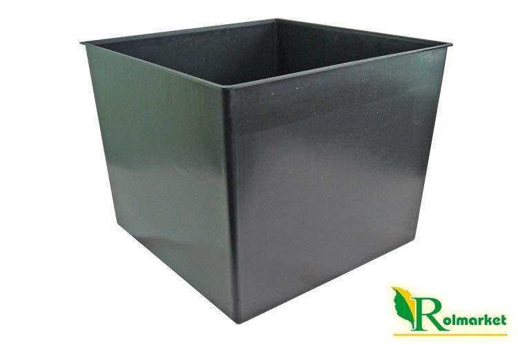 Wysoka Kwadratowa Doniczka Plastikowa Durs 400 Z Wkładem