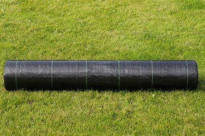 Agrotkanina czarna 0,8x100m (70g) + szpilki mocujące 19 cm (50 szt)
