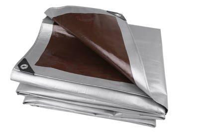 Bardzo gruba plandeka okryciowa srebrna 2x3m Gardenmax