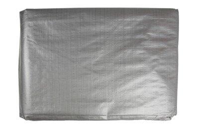 Bardzo gruba plandeka okryciowa srebrna 8x10m (130g)