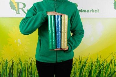 Foliowe worki do segregacji śmieci – mocne worki na śmieci (3 x 25 szt.) 35 litrów