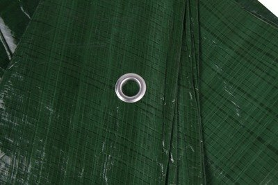 Gruba plandeka okryciowa zielona 10x15m 90gram