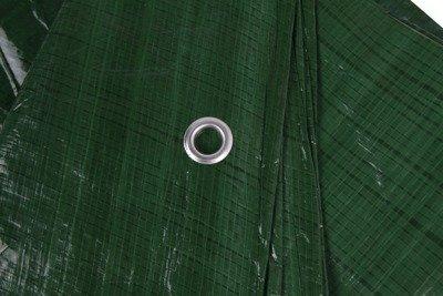 Gruba plandeka okryciowa zielona 6x12m 90gram