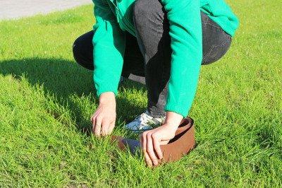 Obrzeże trawnikowe ogrodowe zielone, proste 25cm x 10m LIMITEO