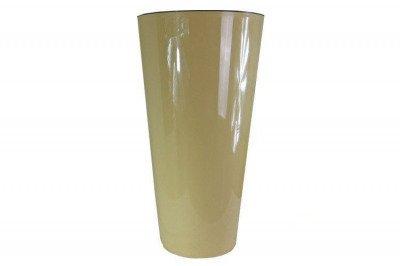 Okrągła doniczka DTUS 400S z wkładem wewnętrznym - kolor kawa z mlekiem, wysokość 76 cm