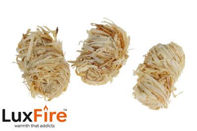 Podpałka długopaląca z wełny drzewnej LUX FIRE 2kg + zapałki GRATIS