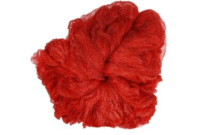 Rękaw siatkowy do pakowania warzyw i owoców - czerwony, 0,38x100m