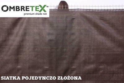 Siatka cieniująca, osłonowa na ogrodzenia 1,5x30m 95% brązowa Ombretex