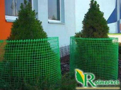 Siatka rabatowa 0,8x50m zielona