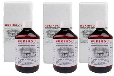 Skuteczny zapachowy odstraszacz na dziki i zwierzynę płową Hukinol 0,5l - zestaw 3 sztuk