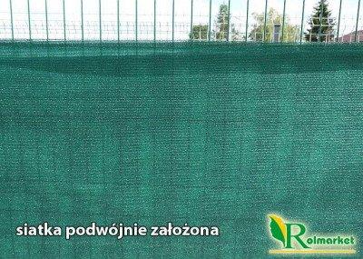 Totaltex zielona - najgęstsza siatka maskująca, osłonowa na ogrodzenia, balkon 1,5x25m 95%
