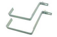 Metalowe uchwyty do skrzynki balkonowej – 2 sztuki, kolor biały